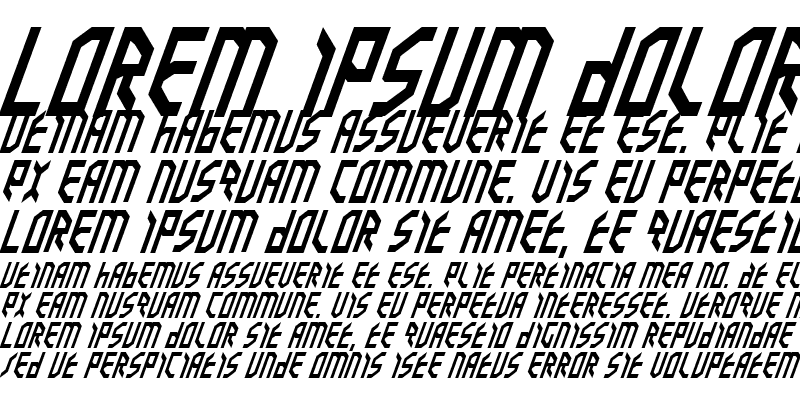 Sample of Valkyrie Italic