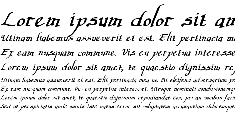 Sample of Valley Forge Italic Italic