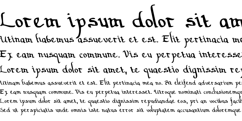 Sample of Valley Forge Leftalic Italic