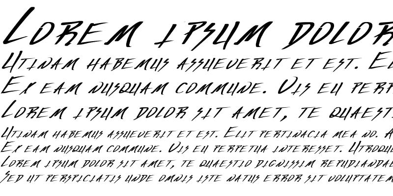 Sample of Vecker Bold Italic