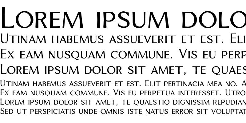 Sample of VenisSmall Caps Regular Regular