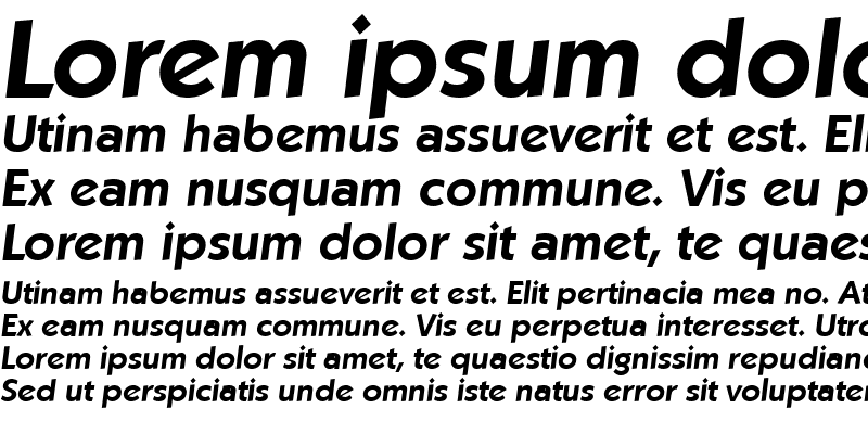 Sample of VictorBecker Bold Italic