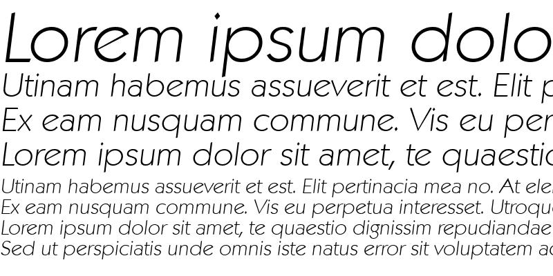 Sample of VictorBecker-ExtraLight Italic