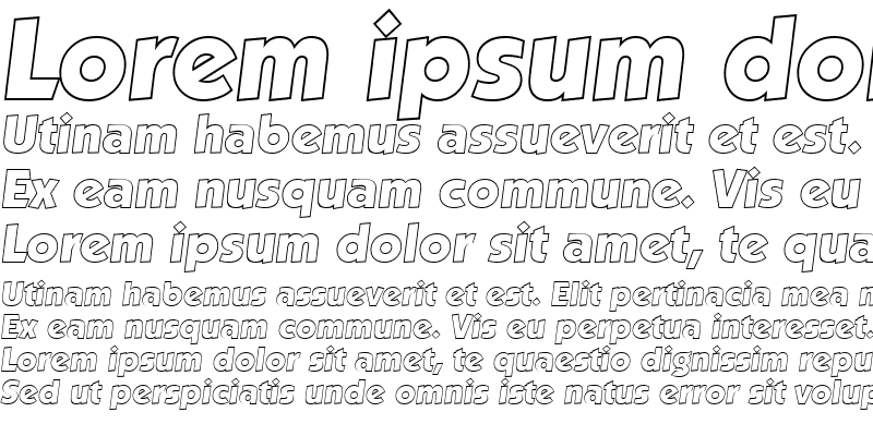 Sample of VictorBeckerOutline-ExtraBold Italic