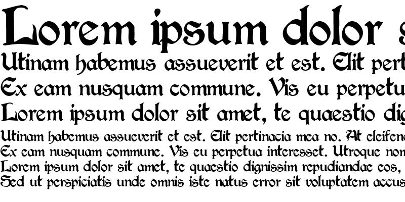 Sample of Victorian ttnorm Regular