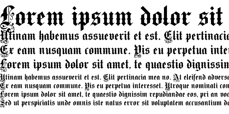 Sample of VictorianText