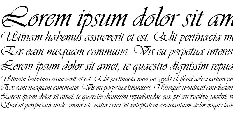 Sample of Vivaldi script