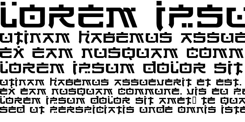 Sample of VNI-Nhatban Regular