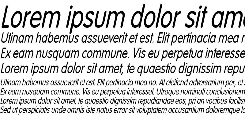 Sample of VogelCondensed Italic
