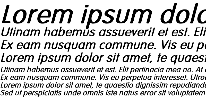 Sample of Vogue-Normal Bold Italic