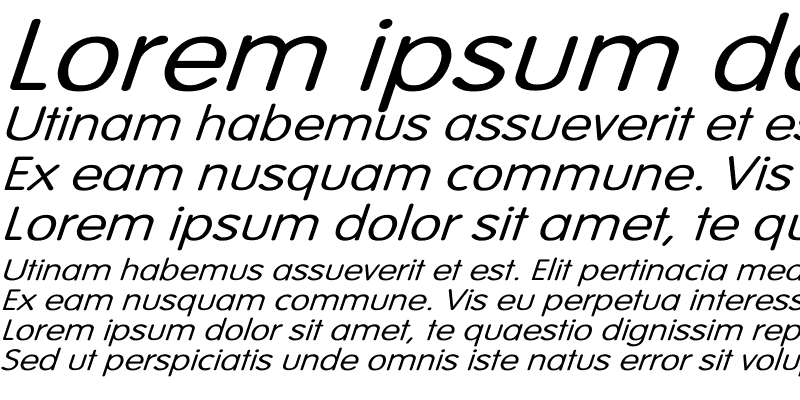 Sample of Vogue-Normal Wd Italic