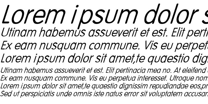 Sample of Volte-Italic