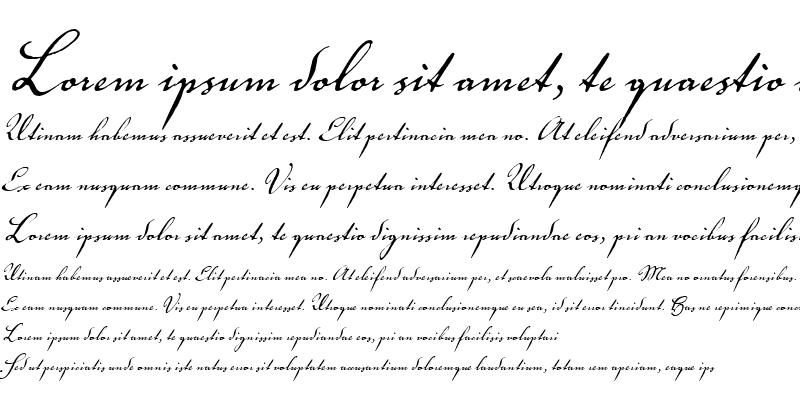 Sample of Voluta Script Pro