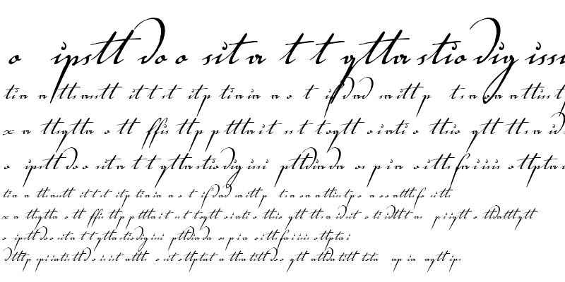 Sample of Voluta Script