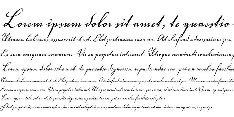Sample of Voluta Script R?gular
