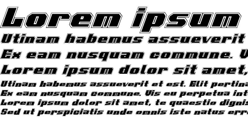 Sample of Voortrekker Pro Italic