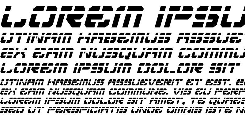 Sample of Vyper Laser Italic