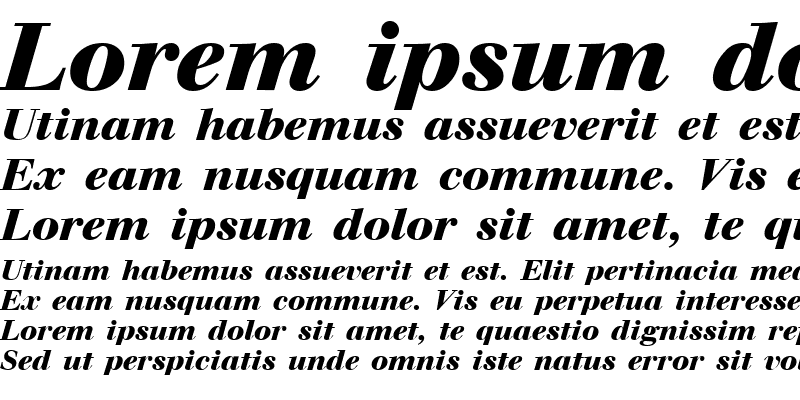 Sample of Walbaum Bold Italic