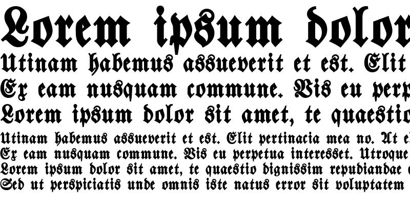 Sample of Walbaum-Fraktur Bold
