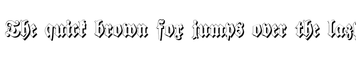 Preview of Walbaum-Fraktur Shadow Bold