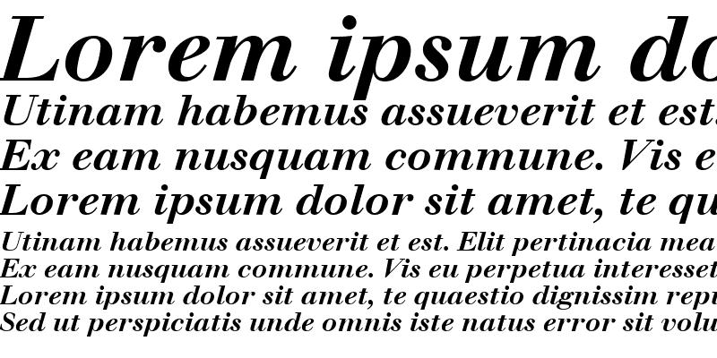 Sample of Walbaum Italic