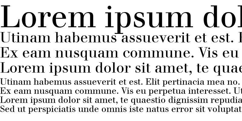 Sample of Walbaum