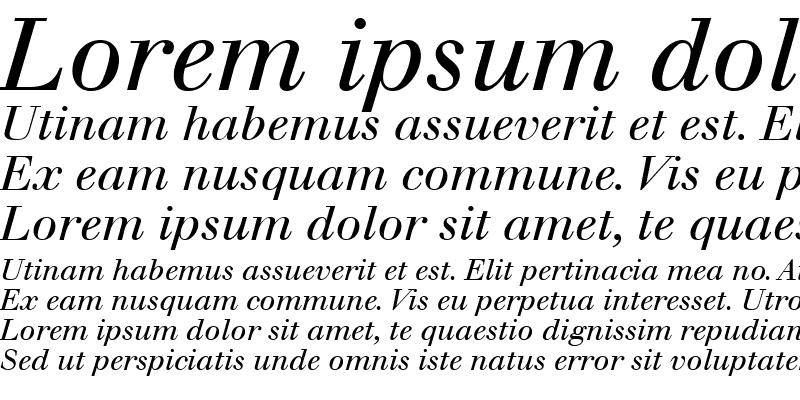 Sample of Walbaum Roman Italic