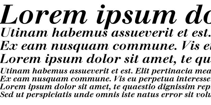 Sample of Walbaum SSi Bold Italic
