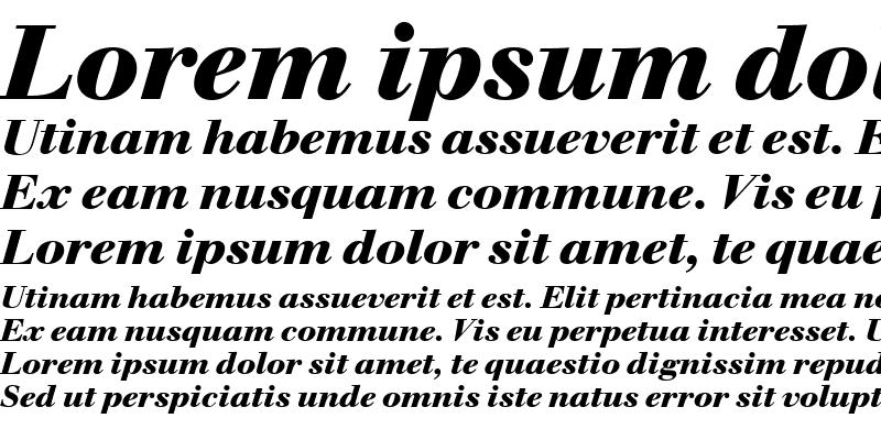Sample of WalbaumBucT Bold Italic