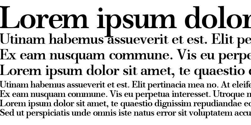 Sample of WalbaumOriginal Bold