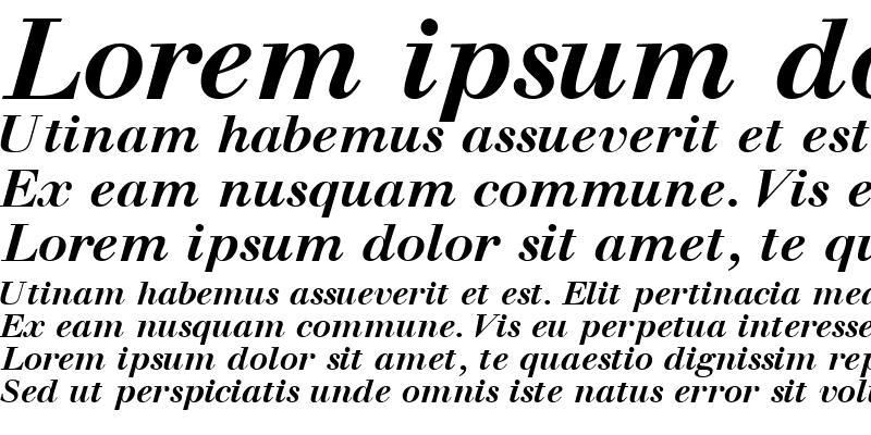 Sample of WalbaumOSSSK BoldItalic