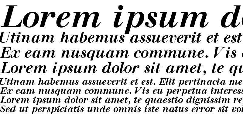 Sample of WalbaumSSK Bold Italic