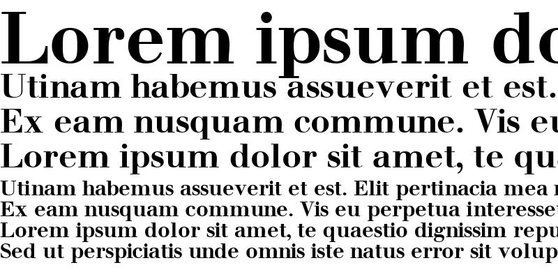 Sample of WalbaumSSK Bold