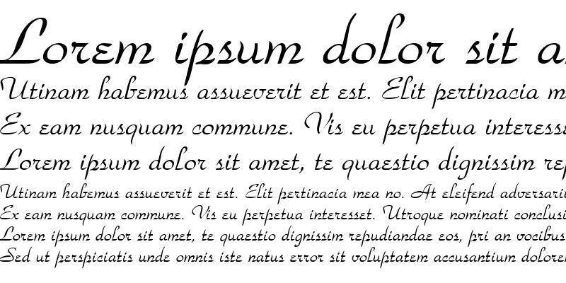 Sample of Waldorf Script