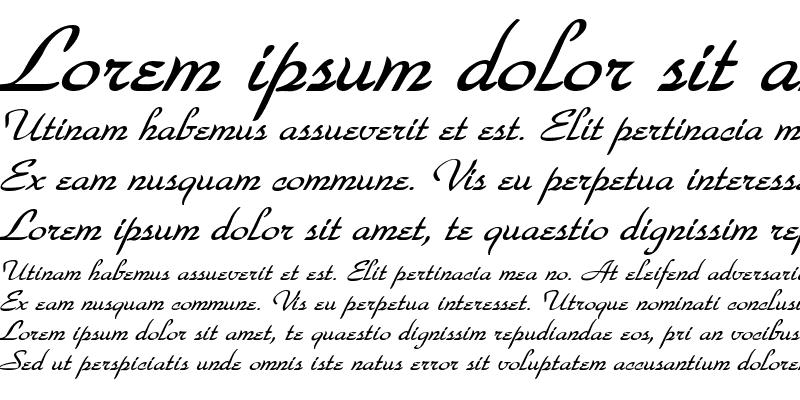 Sample of WaldorfScript BoldItalic