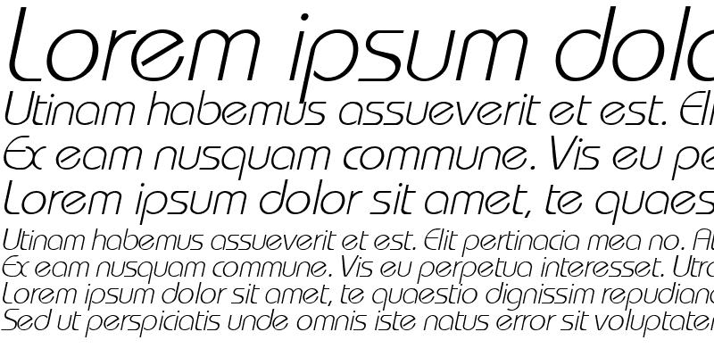 Sample of WashingtonMetro Italic