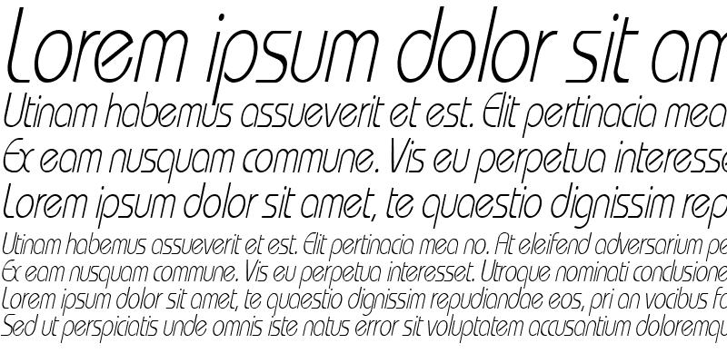Sample of WashingtonMetroCondensed Italic