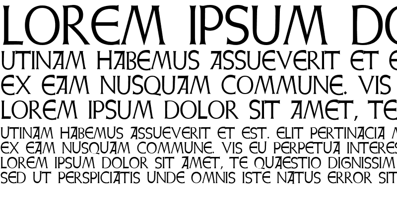 Sample of Weiss Initialen Alternates
