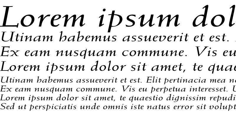 Sample of Weiss-Italic Ex