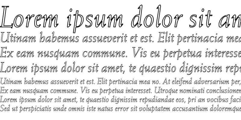 Sample of Weiss-Italic Hollow