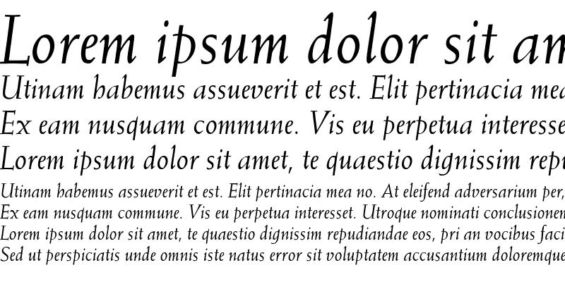 Sample of Weiss-Italic Regular