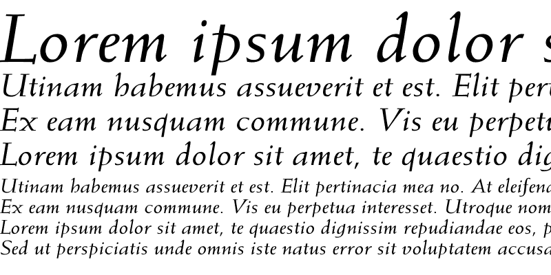 Sample of Weiss-Italic Wd