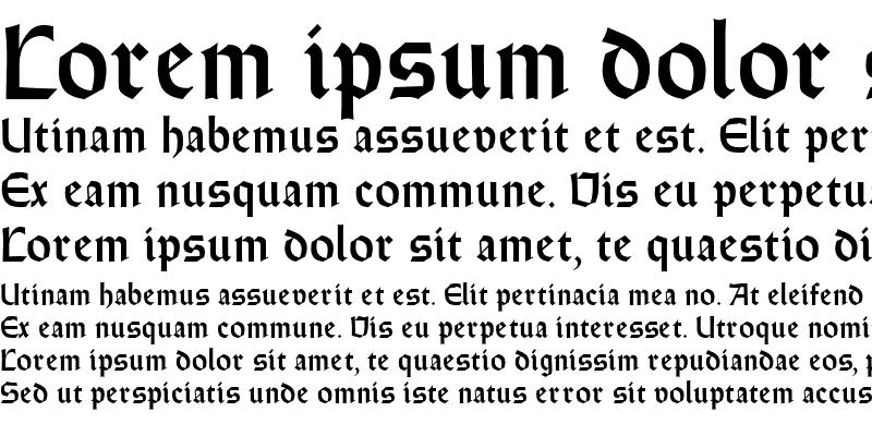 Sample of Weiss Round Gothic Regular