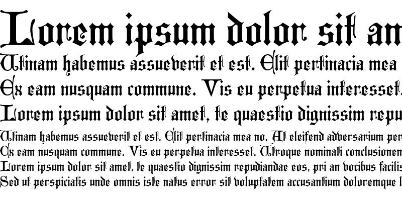 Sample of Westminster Gothic Regular