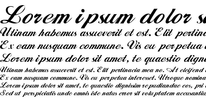 Sample of Whimsi Script SSK