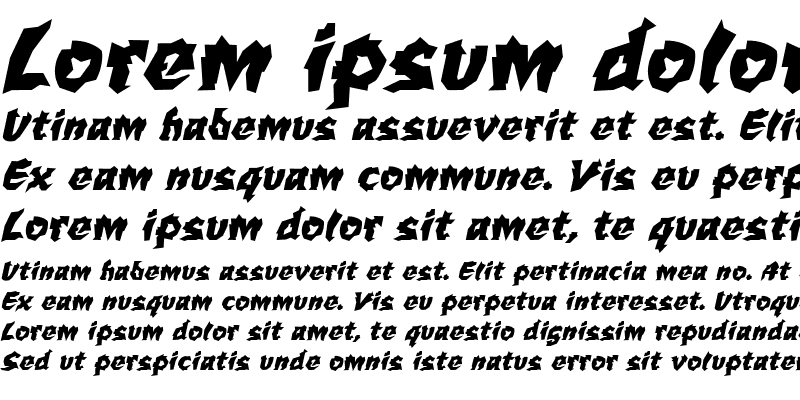 Sample of WILD1 Larra Bold Italic