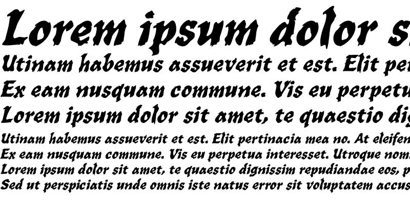 Sample of WILD1 Toxia Bold Italic