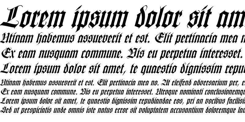 Sample of WilhelmKlingsporGotisch Italic