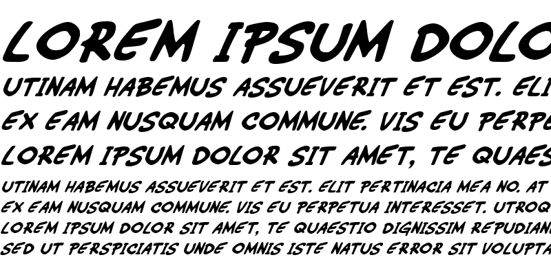 Sample of Wimp-Out Italic