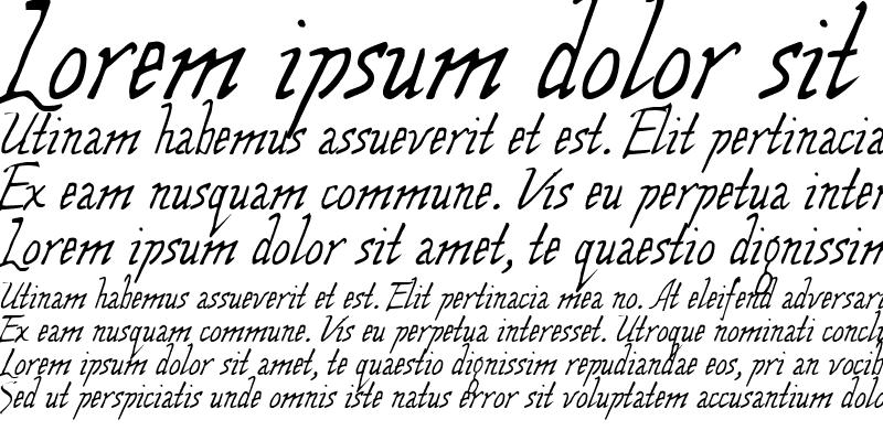 Sample of Wolven Script